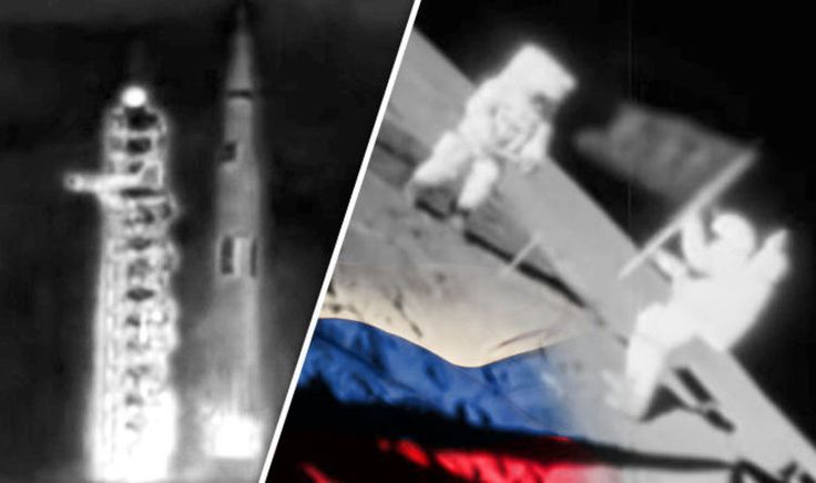 RUSSIAN cosmonauts beat Neil Armstrong to be the first man on the moon, according to a shock new theory.