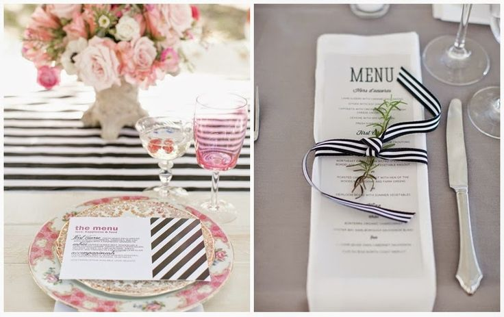 Lines wedding centerpiece ~~~ Boda a Rayas ~~~ | NoviasRD