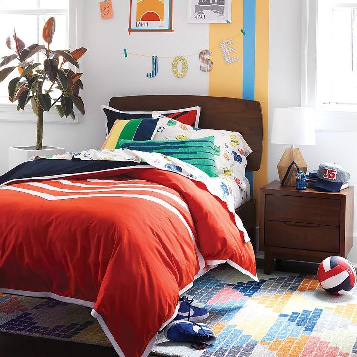 Mosaic Tile Kids Rug The Land Of Nod Boys Rooms