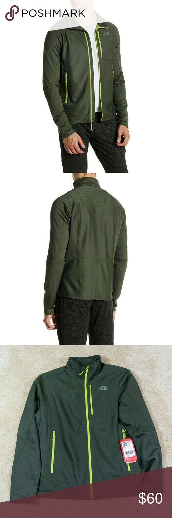 """NWT THE NORTH FACE men's jacket New with tag The North Face men's fuse dolomiti jacket size XL MSRP $160  Color: spruce green  - Stand-up collar - 100% polyester - Long sleeves - Front zip closure - Printed logo - 3 front zip pockets - Approx. 27"""" length - Imported The North Face Jackets & Coats"""