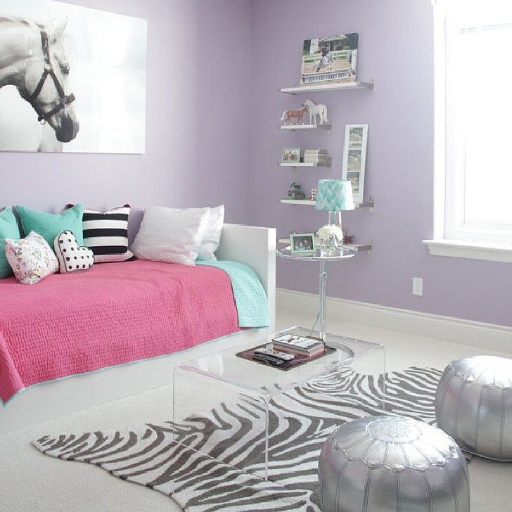 Light purple- gives off a happy amd calm vibe. Good for use in a young  girls room