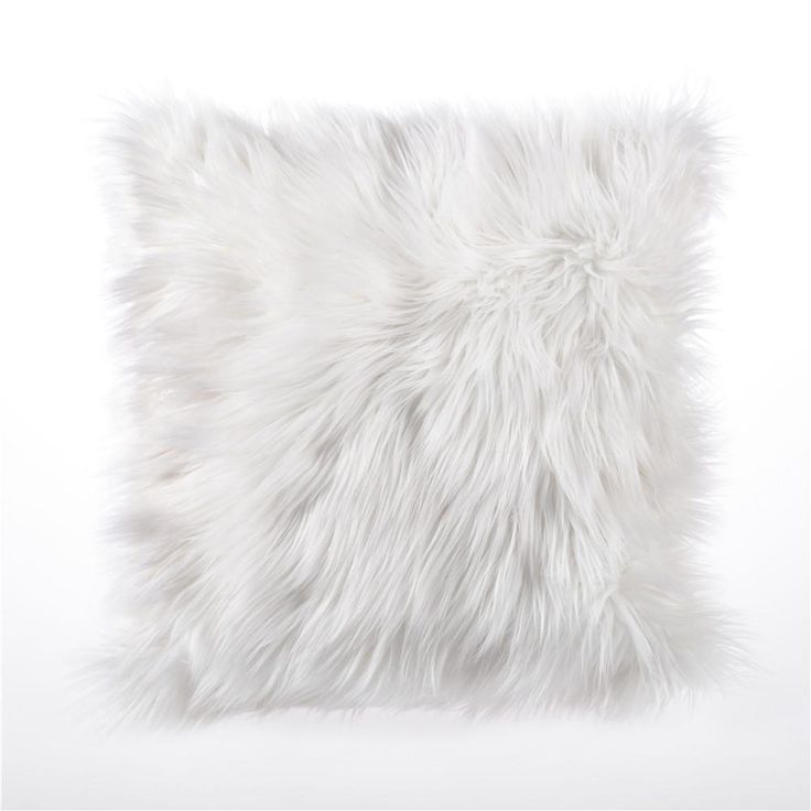 Hazel White Faux Fur Cushion - Pin for Inspo!