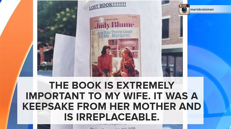Judy Blume book gone: Man desperate to find wife's treasure after he gave it away - TODAY.com