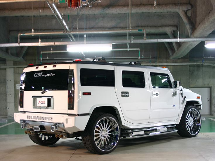 Hummer H2 White - wallpaper.
