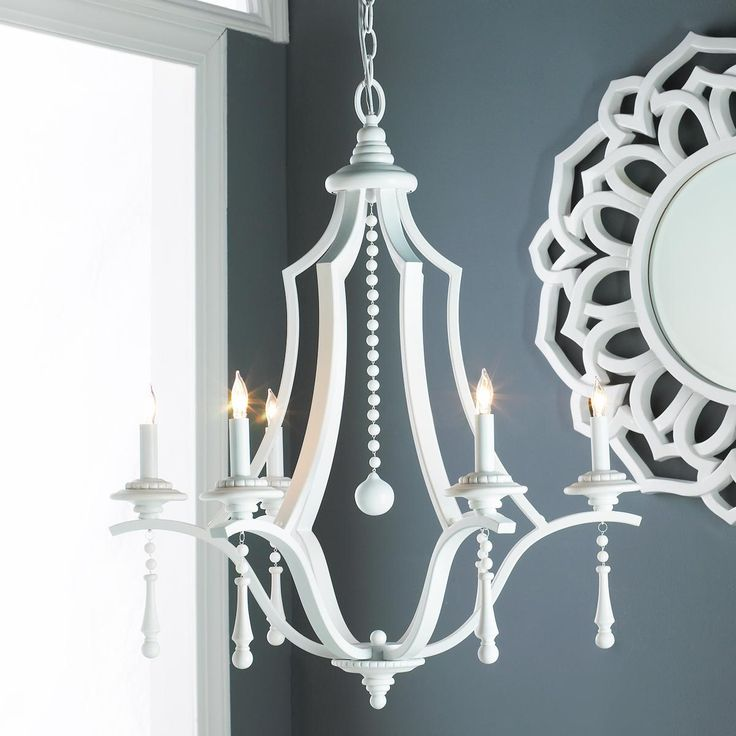 Smart White Chandelier great for the kitchen, the beach house, the mud room!