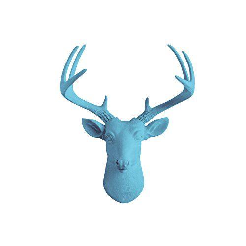 Mini Deer by Wall Charmers | Lake Blue Faux Head Mount Bu... https://www.amazon.com/dp/B00YB8G1MS/ref=cm_sw_r_pi_dp_x_PEy9xb5XCEEEG