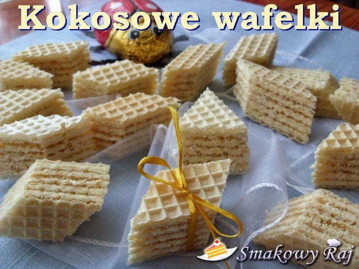 Smakowy Raj - blog kulinarny: Kokosowe wafelki Princessa