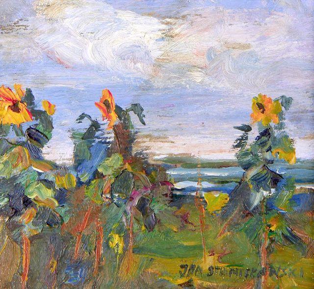 Study of sunflowers  jan stanislawsky