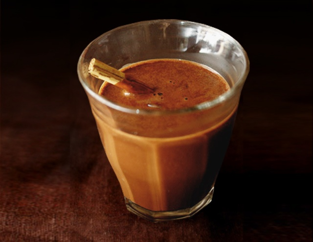 mayan spicy hot chocolate drink 3 ounces of absolut peppar vodka 1 1 2 ...