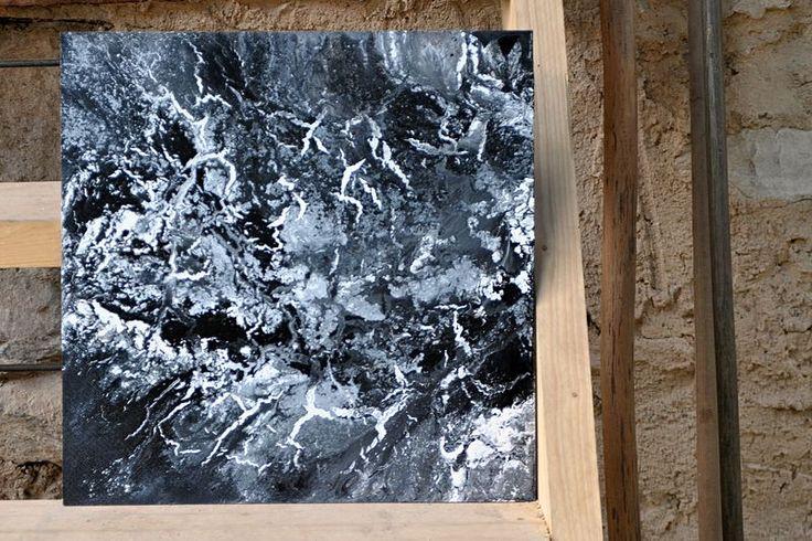 fragmentatio 7/2016, akryl na sololitu, mixmedia, 50x50cm