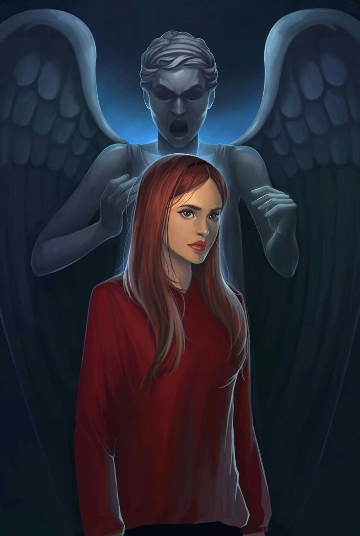 AMY POND AND WEEPING ANGEL