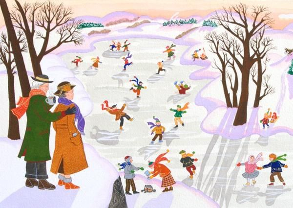 GRANDMA MOSES  Anna Mary had always watched people doing things they enjoyed, like skating in winter. Someday she would paint her treasured memories