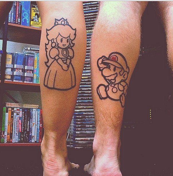 Matching Mario Kart Tattoos