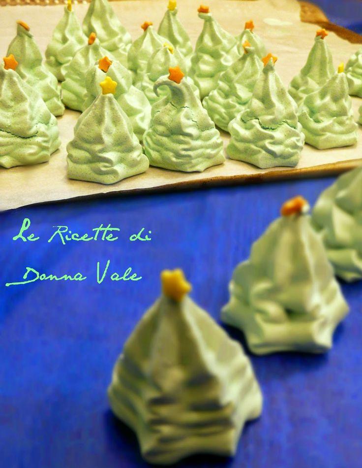 Le ricette di Donna Vale: ALBERELLI DI MERINGA