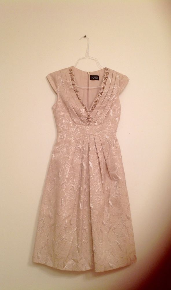 Women's Cocktail/party dress. Adrianna Papell. Pearls at V neck. Exc condition.    eBay