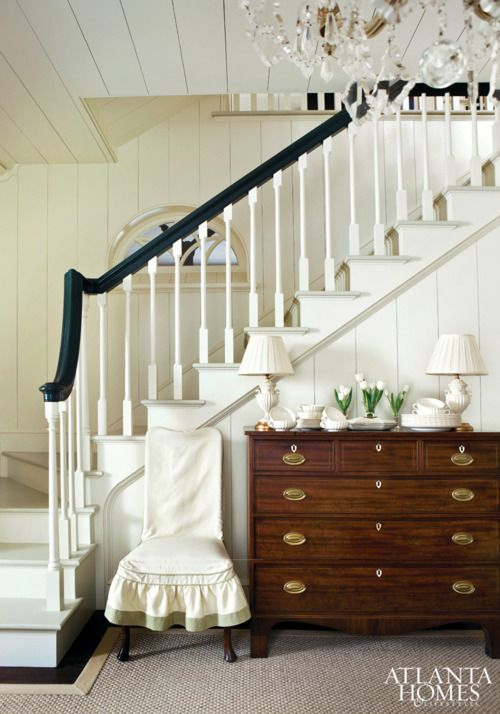 I like the banister and stairs. This might fit in the corner where the stairs go to the upstairs bedrooms.