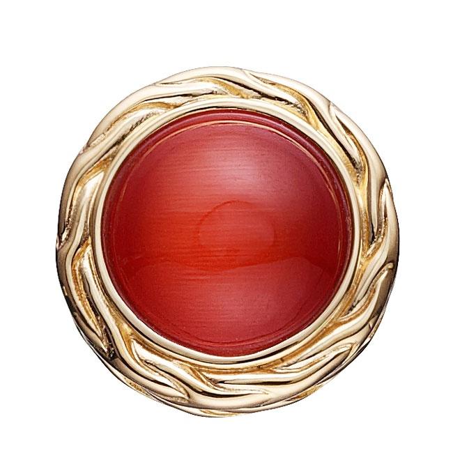 STORY by Kranz & Ziegler Red Cat's Eye Button