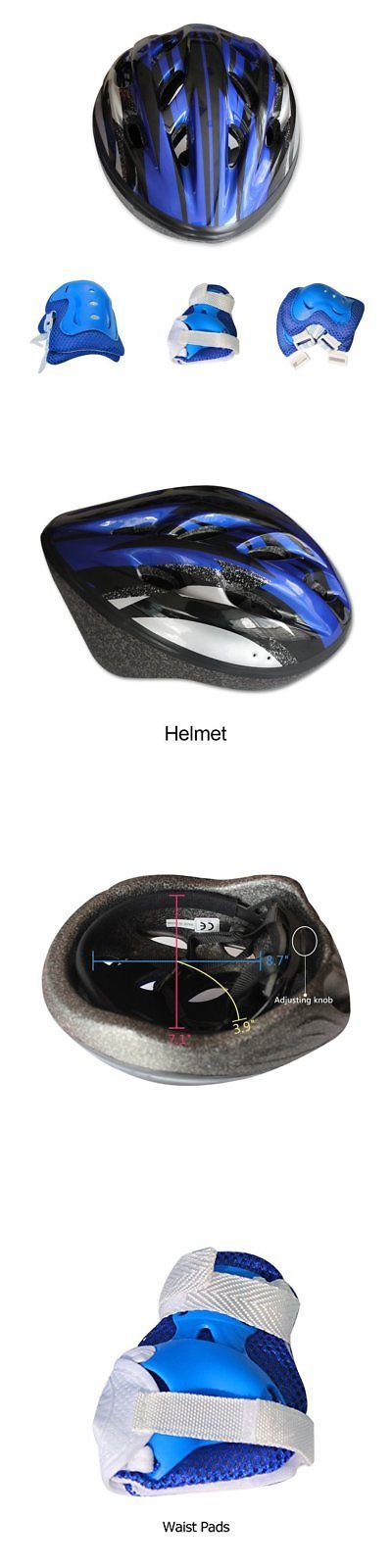 Protective Gear 36317: Kids Bicycle Helmet Knee-Pad Elbow Wrist Protection Gear For Bicycle And Blue -> BUY IT NOW ONLY: $35.19 on eBay!