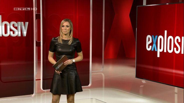 Sandra Kuhn - Schneiders German Presenter Leather Dress 28 1 2017