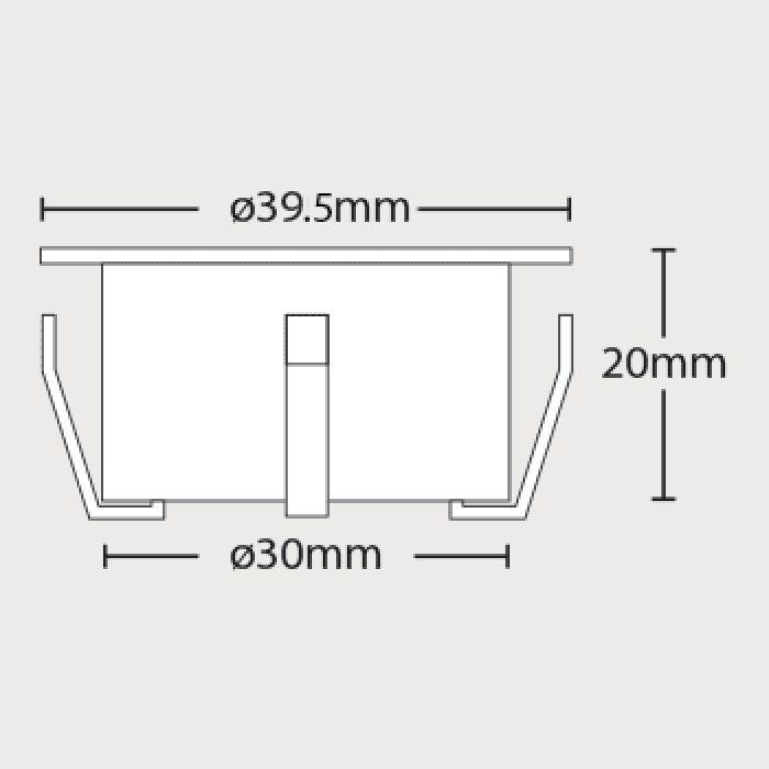 4 Piece LED Decking Light Kit - Small - Decorative & Garden
