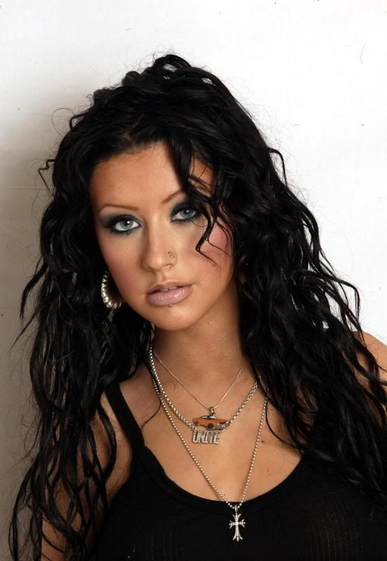 christina aguilera black hair | The 90s - Christina Aguilera #1 ...