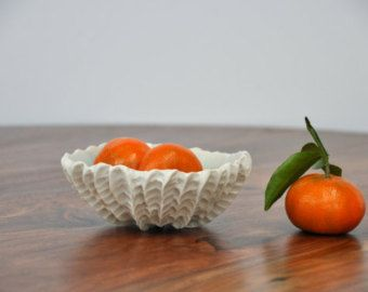 VENTA alto carbón concha Bowl  tazón de cerámica moderno