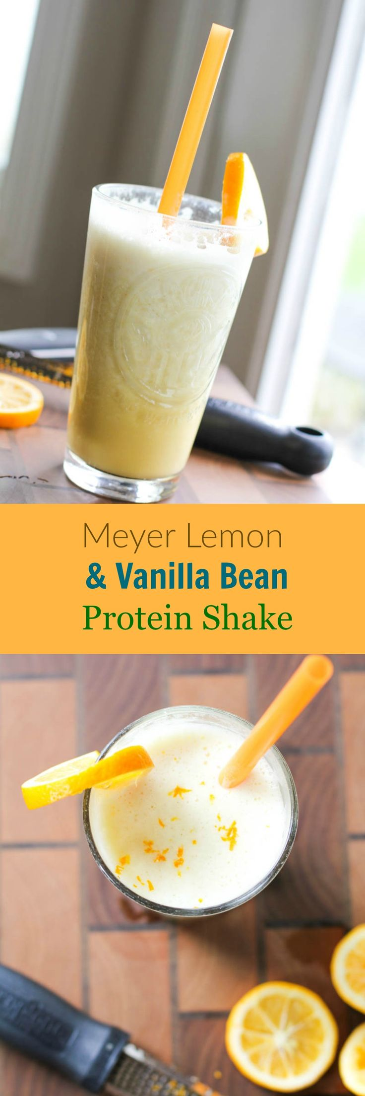 Meyer Lemon and Vanilla Bean Protein Shake | juliesjazz.com