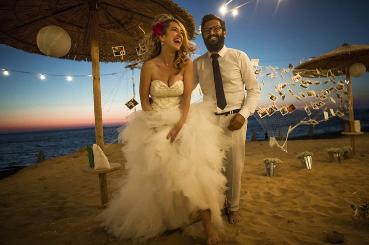 Just married - True hapiness #weddinginphotos #beachwedding #mythosweddings #kefalonia