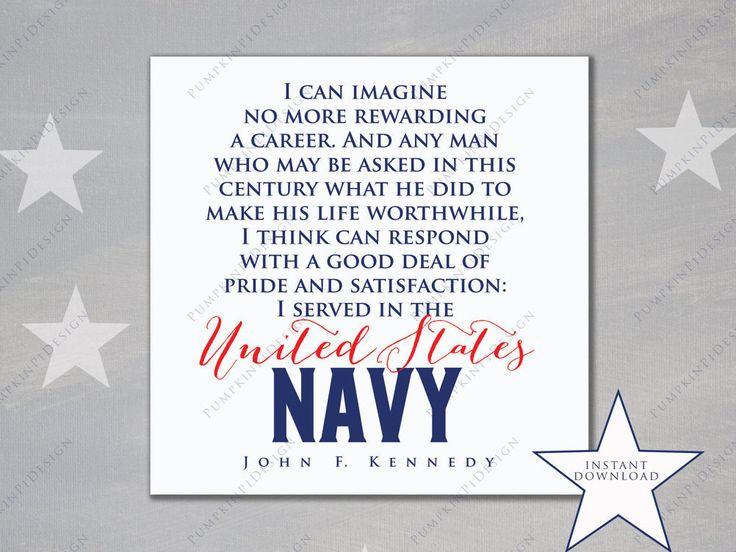 Printable Navy Quote by JFK- Instant Download - 8 x 10 print: Navy Quote by John F. Kennedy, OCS Graduation Gift, Navy Appreciation by PumpkinPiDesign on Etsy