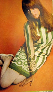 1960s Mod Fashion - vintage sixties dress.