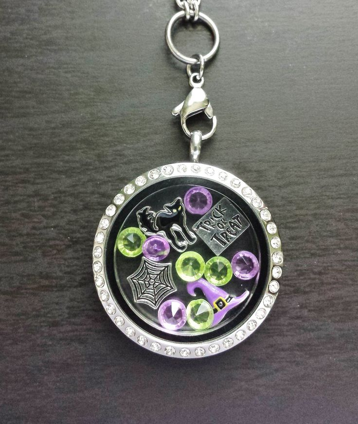 Halloween Floating Charm Locket Necklace-Chain