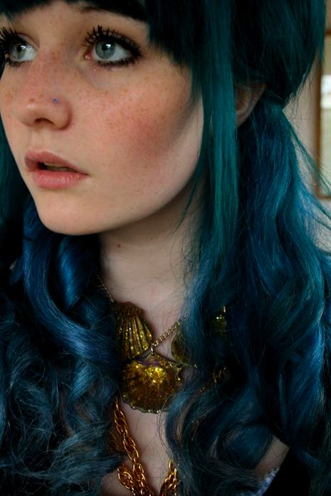 Even a sea nymph can have freckles!: Green Hairs, Character Inspiration, Haircolor, Teal Hairs, Blue Hairs, Hairs Color, Turquoi Hairs, Deep Blue, Hairs Looks