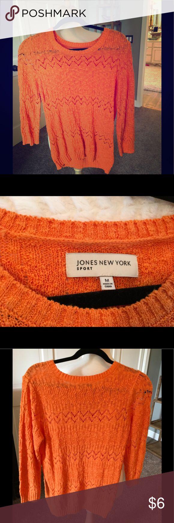 Jones New York orange sweater Never worn crew neck sweater Sweaters