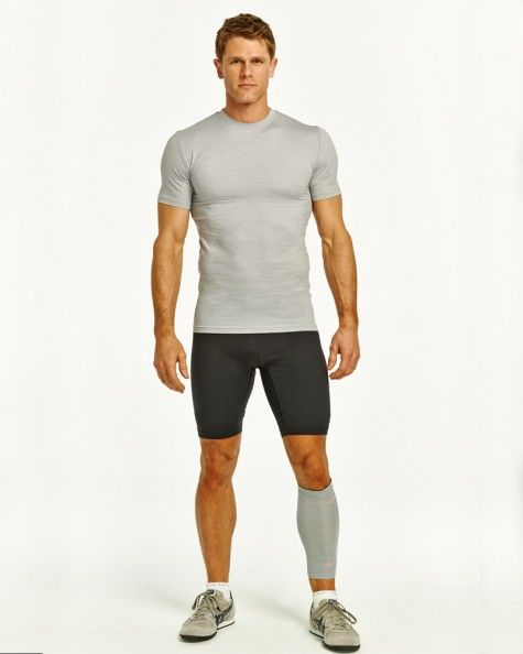 Men's Recovery Compression Calf Sleeve Silver Heather l $29.50