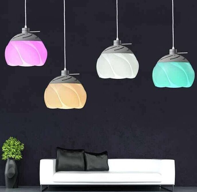 2016 Zhongshan new generation lotus-shaped Color-Changing pendant light with RGB bulb