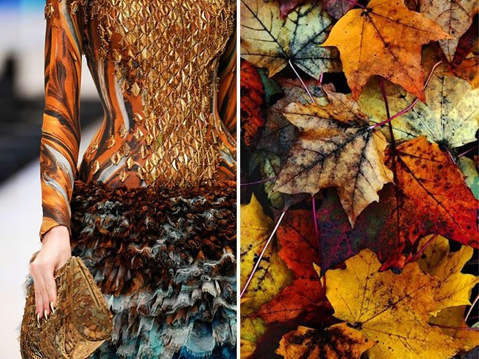 Fashion Inspired By Nature In Diptychs By Liliya Hudyakova - Autumn Leaves
