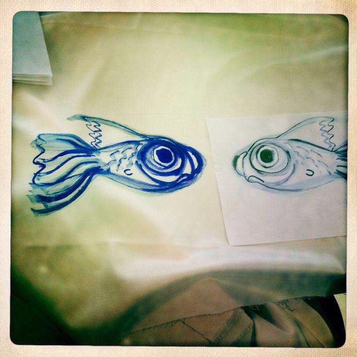 Imoto-chan fish print by Catta's studio-shop