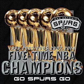 San Antonio Spurs 5-Time NBA CHAMPIONS