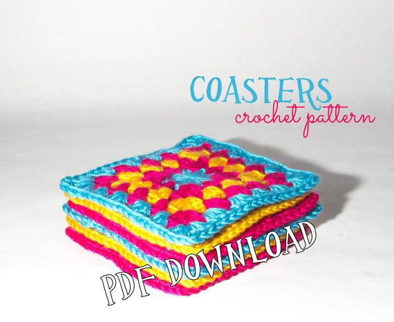 Crochet PATTERN - how to crochet a coaster, pattern & video tutorial link, pre - intermediate crocheter, all you need, crochet pattern