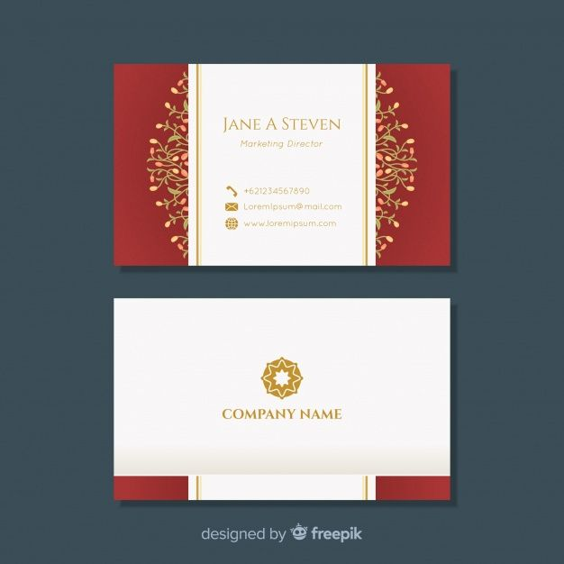 Download Modern Business Card With Floral Design For Free Modern Business Cards Floral Design Design