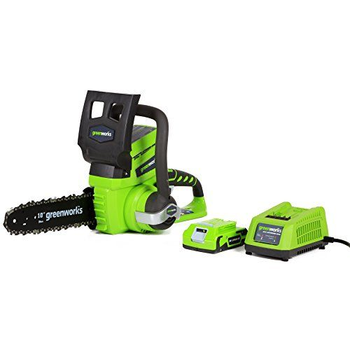 Greenworks 20362 G-24 10-Inch Cordless Chainsaw, (1) 2Ah Battery And Charger Inc., 2015 Amazon Top Rated Chainsaws #Lawn&Patio