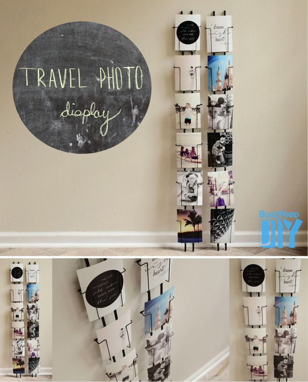 2. Wire Rack Display | 3 Cool New Ways To Display Your Vacation Photos