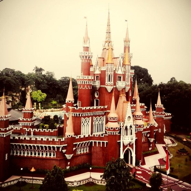 "this is from Indonesia Miniature Park (TMII) in Jakarta - Indonesia. this castle's name is ""Istana Boneka"". there are swimming pool and kids play ground inside. Photo taken by: luthfanida. you can see her instagram to know more about Indonesia tourism at zsurialuthfanida :D"