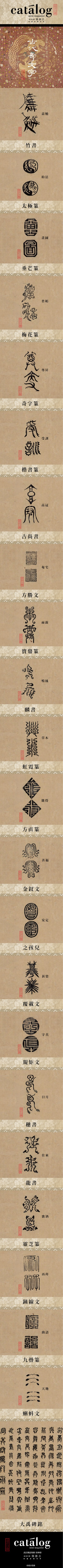 ✍ Sensual Calligraphy Scripts ✍ initials, typography styles and calligraphic art - 古代奇文字 Evolution of ancient Chinese characters