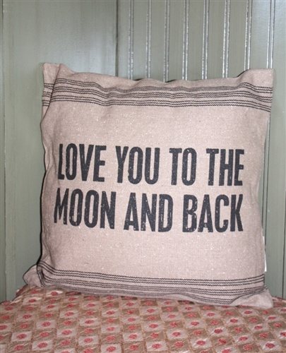 Love You To The Moon And Back Pillow.