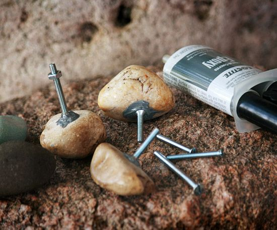 DIY Rock Knobs for Cabinets or Doors | Rock, Rivers and Hardware