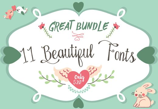 Need a bit of fresh air when it comes to your fonts? This bundle of handmade typefaces from Ianmikraz will do just the trick! You'll get 11 gorgeous, professional handmade fonts perfect for everything from wedding invitations to Apparel Brands to posters. Download now: https://goo.gl/xYbscV