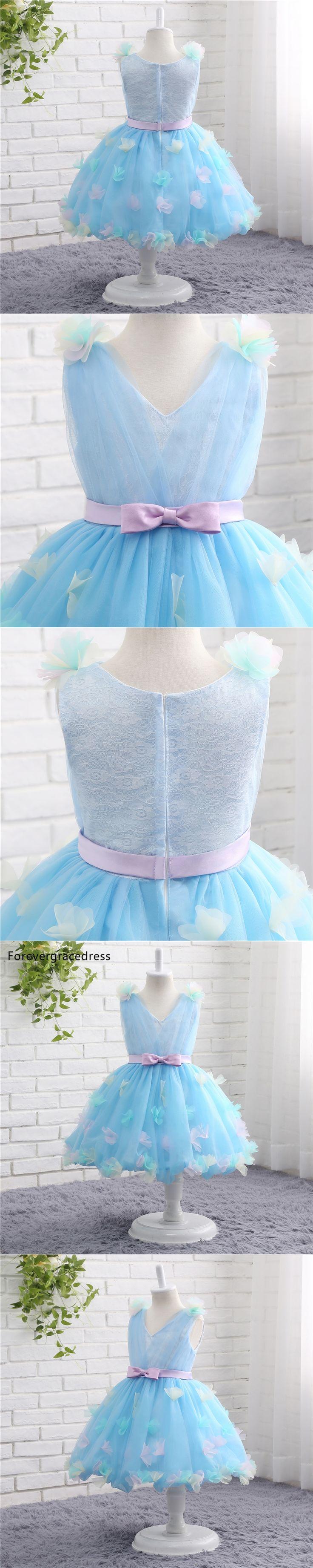 Forevergracedress Real Photos Lovely Flower Girl Dress Cute V Neck Sleeveless With Sashes Kids Children Pageant Dress