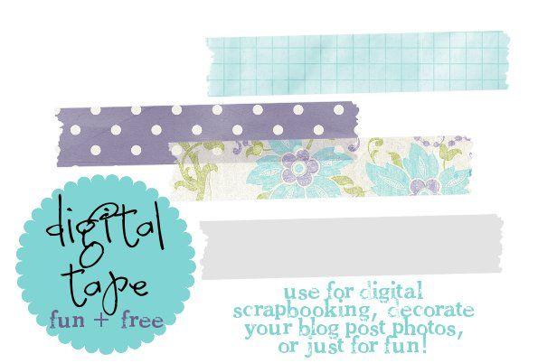 Free Digital Washi Tape @ Key Lime Digital Designs