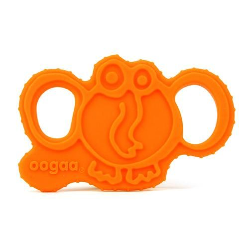 Oogaa Elephant Silicone Teether. The perfect teethers, designed to be easily held by baby. Made from European approved food safe, high-grade silicone (higher than FDA standards). Will not leach chemicals, non-toxic, PVC and phthalate FREE! Oogaa's teethers feature a soft raised textured design which glides over babies' mouth to soothe babies tender gums. Soft silicone is BPA free, no harsh chemicals. Dishwasher safe and sterilizer safe.